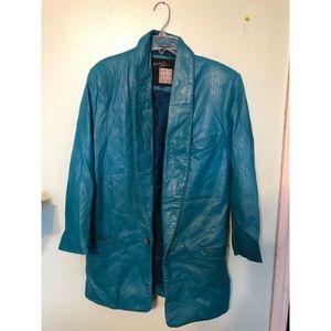Vintage Michael Hoban North Beach Leather Blazer